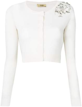 Liu Jo cropped cardigan with embellishments