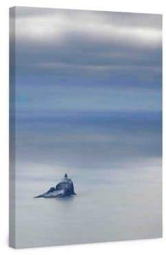 Marmont Hill Tillamook Rock Lighthouse Painting Print on Wrapped Canvas