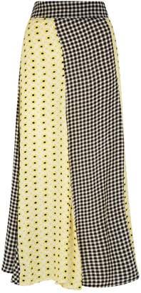 Ganni Panelled Midi Skirt