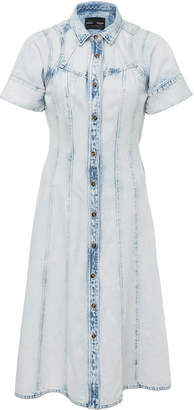 Proenza Schouler Denim Washed Short Sleeve Cotton Dress