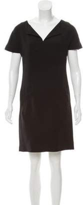 Balenciaga Knee-Length Shift Dress Black Knee-Length Shift Dress
