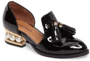 Women's Jeffrey Campbell 'Civil' Pearly Heeled Beaded Tassel Loafer