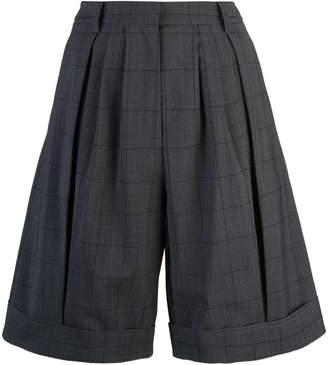Tibi windowpane pleated shorts