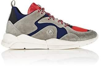 Moncler Men's Jakub Suede & Mesh Sneakers - Gray
