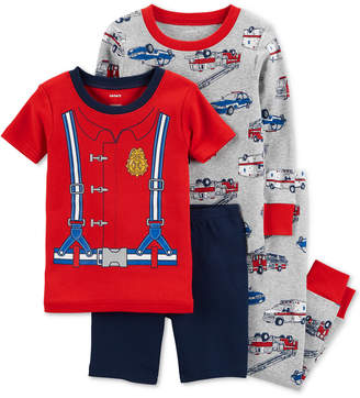 Carter's Carters's Toddler Boys 4-Pc. Fire Fighter Cotton Pajama Set