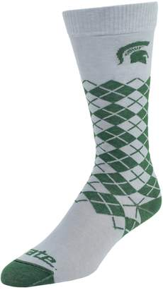 NCAA Women's Mojo Michigan State Spartans Argyle Socks