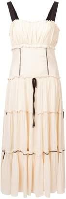 Cinq à Sept tiered detail sleeveless dress
