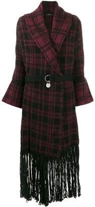 Diesel M-Bou check-print coat