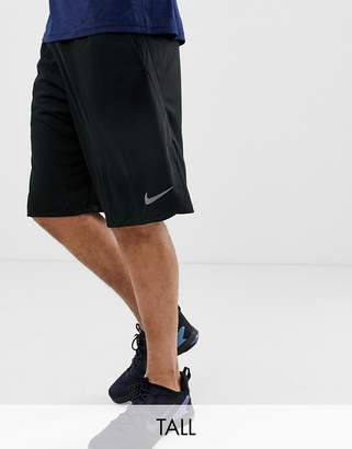 f01e399134e Nike Training TALL Dry 4.0 Shorts In Black 890811-010
