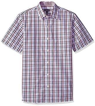Van Heusen Men's Never Tuck Slim Fit Short Sleeve Button Down Shirt