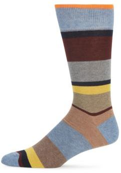 Striped Combed Cotton-Blend Socks $20 thestylecure.com