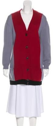 Valentino Cashmere Colorblock Cardigan Red Cashmere Colorblock Cardigan
