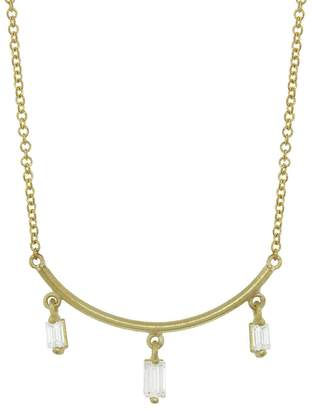 Tate Diamond Fringe Arc Necklace - Yellow Gold