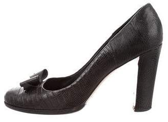 Burberry Embossed Bow Pumps