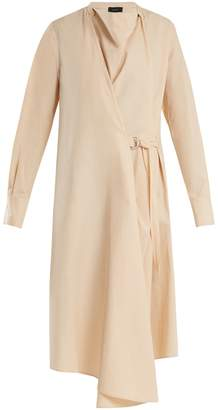Joseph Arran cowl-neck cotton-poplin wrap dress