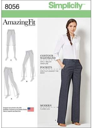 Simplicity Patterns SIMPLICITY AMAZING FIT MISS/PLUS SIZE FLARED PANTS OR SHORTS-20W-28W