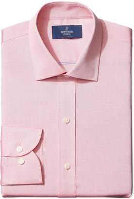 Buttoned Down Men's Non-Iron Slim Fit Pinpoint Spread Collar Dress Shirt Shirt