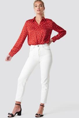 MANGO Mom Jeans Blanco
