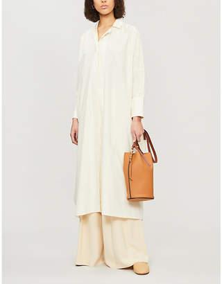 Jil Sander Glitter loose-fit cotton midi dress c9443afc7