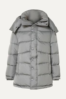 Balenciaga Swing Oversized Padded Shell Coat - Gray