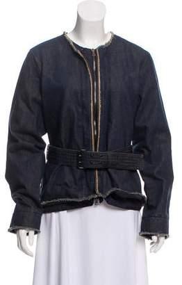 Prada Sport Denim Belted Jacket
