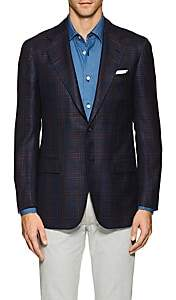 Kiton Men's KB Plaid Cashmere-Blend Two-Button Sportcoat - Navy