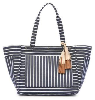 Lucky Brand Tyna Suede Trimmed Tote