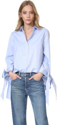 Clu Bow Tie Cuff Shirt $315 thestylecure.com
