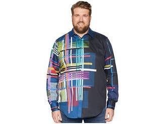 Robert Graham Big Tall Robinson Sports Shirt (Multi