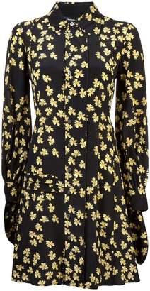 Derek Lam floral long-sleeve shirt dress
