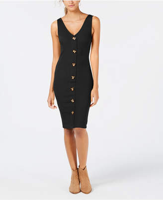 Planet Gold Juniors' Ribbed Bodycon Dress