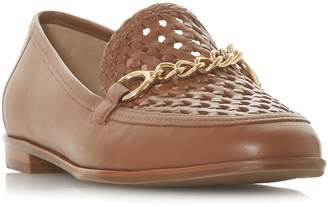 Dune Galowe Woven Snaffle Trim Loafer Shoes