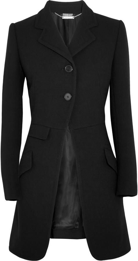 Alexander McQueenAlexander McQueen Wool-blend crepe coat