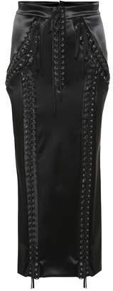 Dolce & Gabbana Stretch satin lace-up skirt