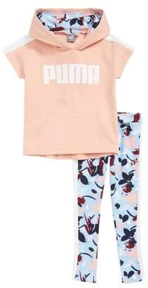 Puma Logo Hoodie & Leggings Set