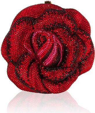 Judith Leiber Couture New Rose Crystal Minaudiere