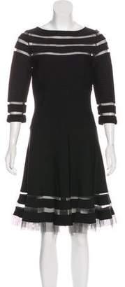 Tadashi Shoji Paneled Knee-Length Dress
