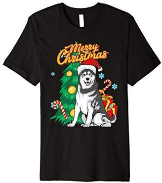 Breed Merry Christmas Alaskan Malamute Dog T-Shirt