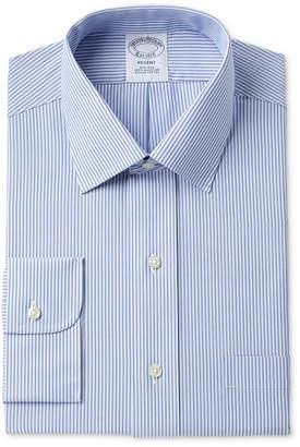 Brooks Brothers Men's Milano Slim-Fit Non-Iron Tonal Blue Stripe Dress Shirt