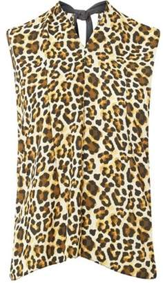 Dorothy Perkins Womens Animal Print Tie Back Top