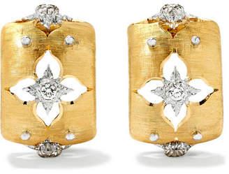 Macri Giglio 18-karat Yellow And White Gold Diamond Hoop Earrings