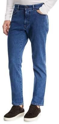 Ermenegildo Zegna Straight-Leg Stretch-Denim Jeans