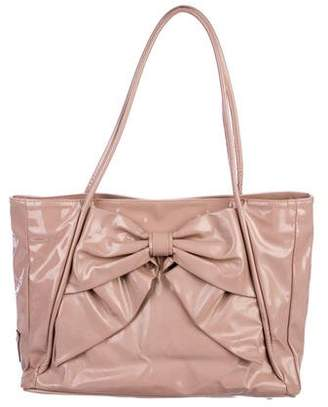 Valentino Betty Bow Patent Leather Tote