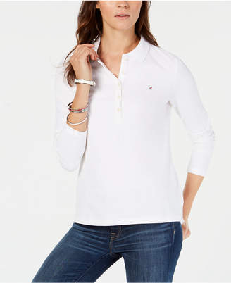 Tommy Hilfiger Five-Button Long-Sleeve Polo Shirt