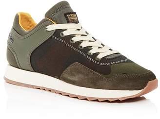 G Star Men's Calow Mixed-Media Low-Top Sneakers