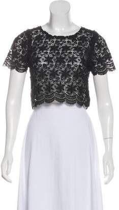 Reformation Lace Short Sleeve Top
