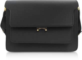 Marni Black Smooth Leather Trunk Shoulder Bag