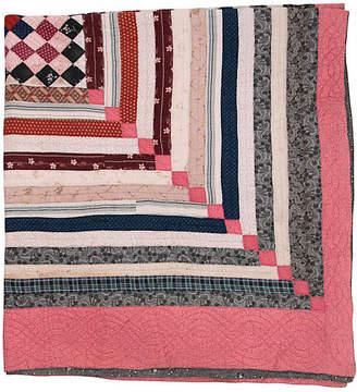 One Kings Lane Vintage Stripe Variation Quilt - Genesee River
