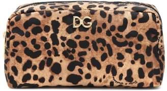 Dolce & Gabbana Leopard-print nylon pouch