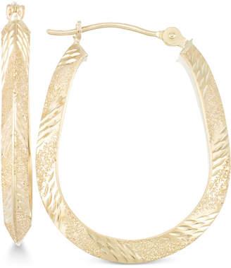 Macy's Patterned Pear-Shape Hoop Earrings in 10k Gold